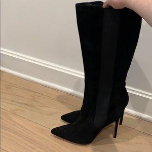 Manolo Blahnik Tungadehi Suede Boots Brand New